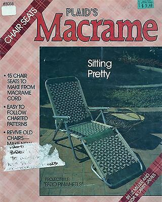 Vintage Sitting Pretty Macrame Lawn/patio Chairs Pattern Book - 15 Designs