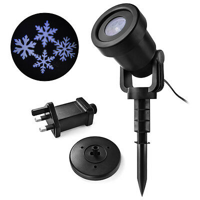 Waterproof LED Christmas Snowflake Pattern Light Projection Lamp Ourdoor LD934