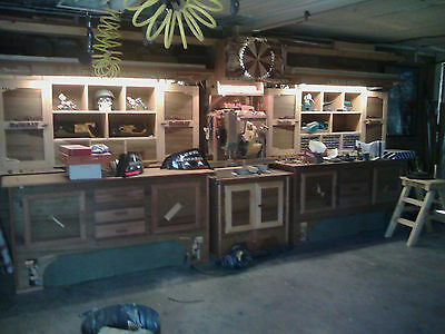 Woodworking Benches and Cabinets + Dewalt Saw