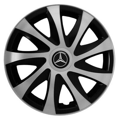 "4x16"" Wheel trims Wheel covers fit Mercedes Sprinter 16"" full set silver/black"