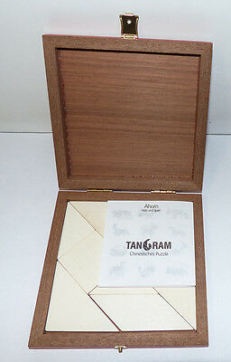 Tangram - edles Holzpuzzle aus Ahorn - in Holz-Schatulle - sehr guter Zustand