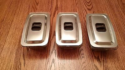 3 Rectangular Hostess dishes with lids