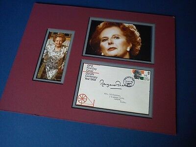 Margaret Thatcher Signed & Mounted - Ready To Frame