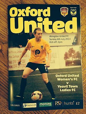 Oxford United Ladies v Yeovil Town Ladies Cont.Cup 6th July 2014