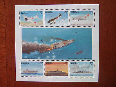 DOMINICA 1995 50th ANNIVERSARY OF PEACE IN PACIFIC 6v M/S  MINT MNH SG1971/76
