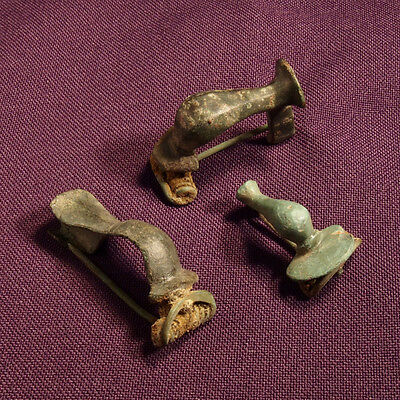 Lot of 3 Roman bronze brooch / fibula - 1st - 2nd C. AD - #1
