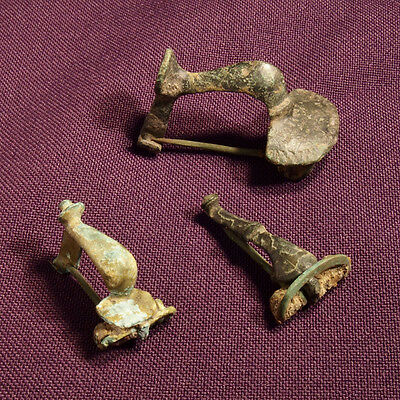Lot of 3 Roman bronze brooch / fibula - 1st - 2nd C. AD - #2