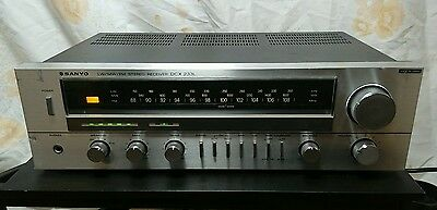 Vintage Sanyo Stereo Hi-fi Receiver Amplifier FM Tuner Phono Stage For Vinyl
