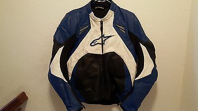 Alpinestars Motorcycle Riding Leather Jacket Size 40 Small