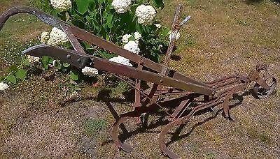 Plow 5 tine horse drawn antique