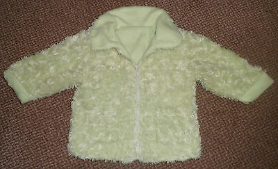 Girls Lovely Lime Green Soft Feel Coat Age 2-3 Years In Ex Cond