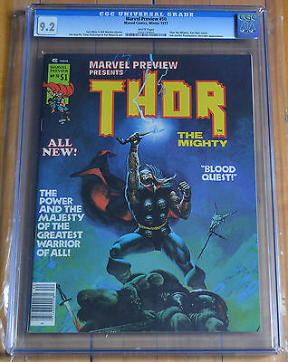 CGC 9.2 Marvel Preview #10 *White Pages*Thor*Hercules app.*1977