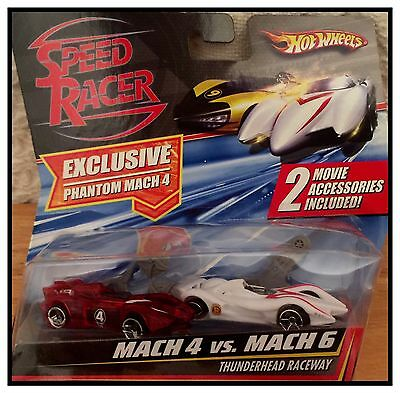 Brand New - Hot Wheels Speed Racer Mach 4 vs Mach 6