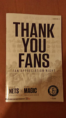 2014/15 Brooklyn Nets Vs Orlando Magic NBA Programme: Basketball
