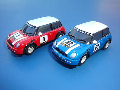 Pair Of Used Micro Scalextric Rally Mini Cars - Loads More Cars For Sale..