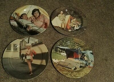 Carry On Film Set of 4 plastic picnic plates, classic scenes. Dinner plate size