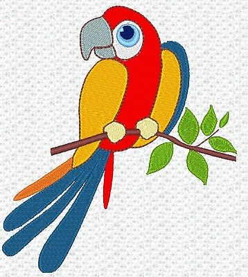 """Parrot"" Machine Embroidery Design, Fast & Free P/p Email, Cute, New"