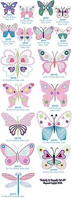 """Set 3 """"Butterfly & Dragonfly"""" Machine Embroidery Design, Fast & Free P/p Email"""