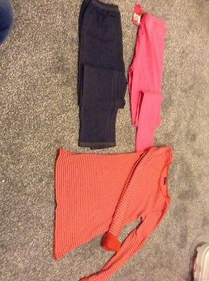 GIRLS TOP AND LEGGINGS AGE 10-12 Years