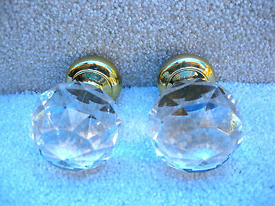 Beautiful Acrylic And Brass Finials Made At Kirsh In The 1990's Top Quality