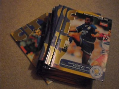 Leicester City 1994-95 Season Complete set of home programmes job lot collection