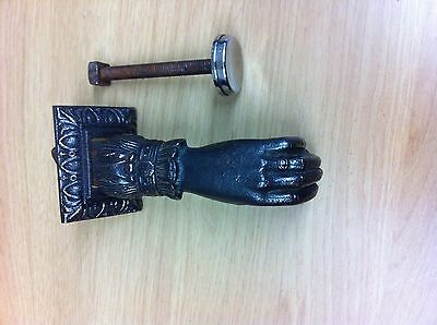 Antique Cast Iron French (Classic Hand) Door Knocker Bell Furniture (PFH30)