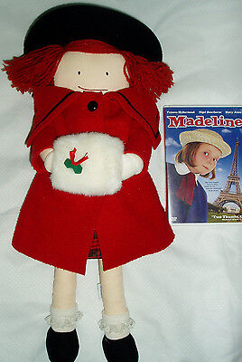 """18"""" Madeline doll in christmas outfit with Madeline DVD"""