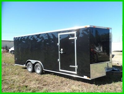 8.5x20 2'v nose 22ft  Basic motorcycle enclosed cargo  toyhauler trailer New 20'