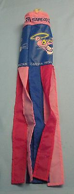 """SafeCo. Ins . Pink Panther Windsock """"Careful People Deserve Panther Protection"""""""