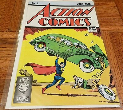Action Comics #1 1st Superman Fifty Years Collectors Item Reprint
