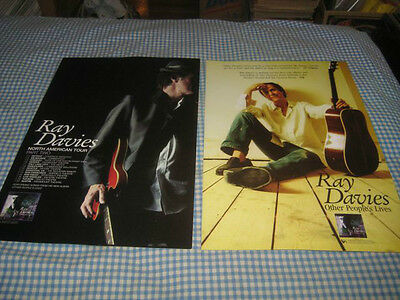 RAY DAVIES-(other people's lives)-1 POSTER-2 SIDED-11X17-NMINT-RARE