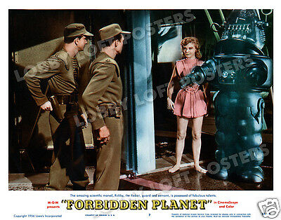 Forbidden Planet Lobby Scene Card # 7 Poster 1956 Robby The Robot