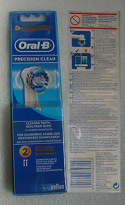"Braun Oral-B ""precision Clean"" Pack De 2 Brossettes Neuves Sous Emballage"