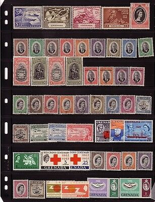 COLLECTION....  Grenada  1949 to 1960s mnh/mint includes later sets