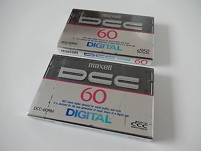 2 x Maxell DCC-60RM digital compact cassette sealed new made in Japan