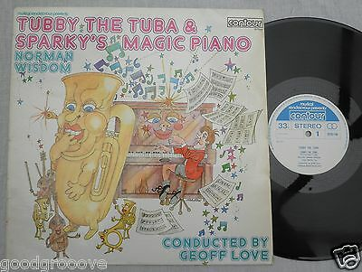 Tubby The Tuba Sparky's Magic Piano 1971 Lp Vinyl Norman Wisdom Geoff Love