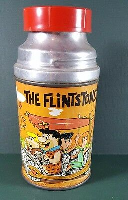 Vintage Aladdin The Flintstones Metal Thermos/very Nice Condition/1964