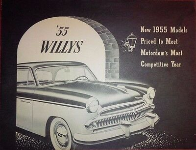 Dépliant Brochure Prospectus Catalogue Willys Gamme Usa 1955