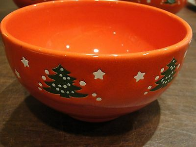 "Waechterbach Christmas Tree Cereal Bowl 6"" By 3 1/4"""
