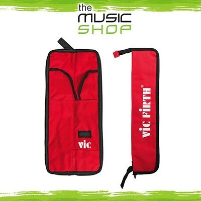 New Vic Firth Essentials Drum Stick Bag - Holds 4-5 Pairs of Drumsticks - Red