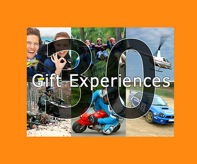 30 Fun Experience Gift Choices - valid min. 9 months from issue