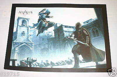 Assassin's Creed Promo Poster On Light Card 33Cm X 24Cm From French Games Shop