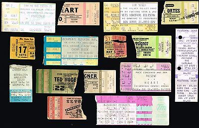 Concert Ticket Stub Lot - Heart - Foreigner - Cheap Trick - Rolling Stones