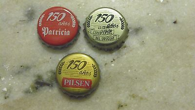 3 Bottle Cap limited edition  from Uruguay