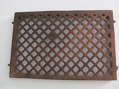 Vtg Architectural Steam Punk Heavy Cast Iron Floor Vent Drain Grille