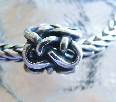 GENUINE TROLLBEADS  'RETIRED SILVER ' MIDGUARD SERPENT' lovely ever collectable
