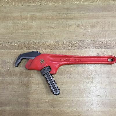 Nice Used Ridgid E110 Angle Pipe Wrench, Plumbing, Construction Tool