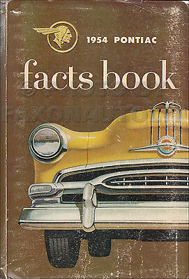 1954 Pontiac Facts Book Chieftain Star Chief Catalina Accessories Dealer Data