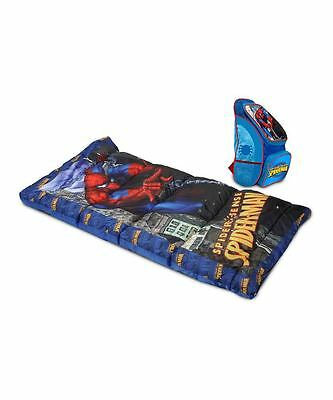 Spiderman 2-Piece Camp Combo: Sleeping Bag and Backpack