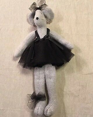Toys Plush Collectible Ballet Decorative Hand Made Stuffed Animal Ballet Mouse